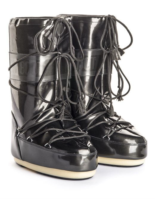 Ayakkabi  14021400-001 MOON BOOT VINILE MET. BLACK (27-34)