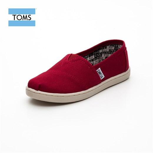 Ayakkabi Toms 012001C13 RED CANVAS / RED