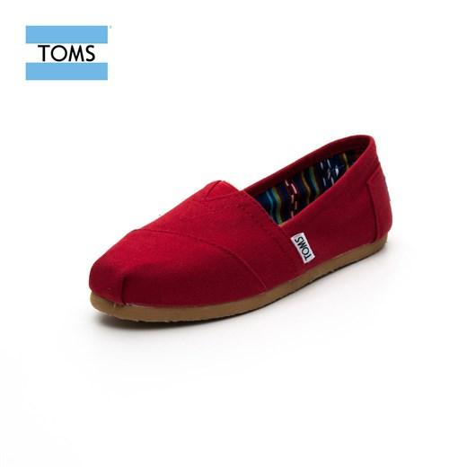 Ayakkabi Toms 10000867 RED CANVAS CLASSIC / RED