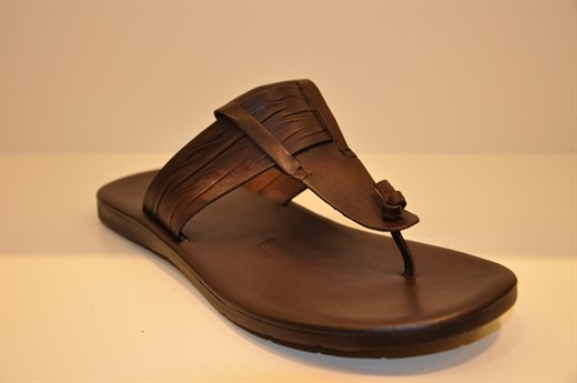 Erkek Terlik  Poliüretan Taban 1180 VRONSKY MEN SANDALS-BROWN LEATHER