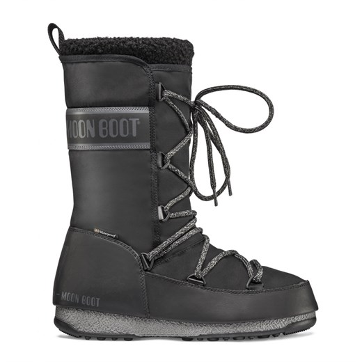 Kadın Bot 24008900 001  MOON BOOT MONACO WOOL WP BLACK