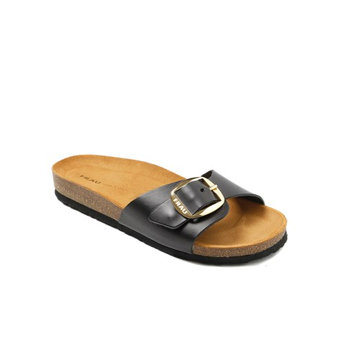 SİYAH Kadın Terlik 5830 Frau Natural-S Sandals Leather Nero