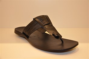 SİYAH Erkek Terlik 1180 VRONSKY MEN SANDALS-BLACK LEATHER