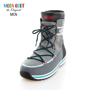Erkek Kar Botu yt Termo Taban 14200900-004 MOON BOOT LEM TECH LIGHT GREY-BLACK-TURQUOISE