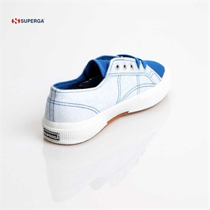Ayakkabi  2750-COTSPOTSJ SUPERGA X01571 S00AKT0 C64 SYNTHETIC WHITE-BLU