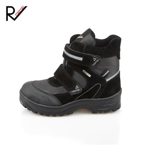 Ayakkabi  5009 D  RAP RAP  LEATHER BLACK SUEDE