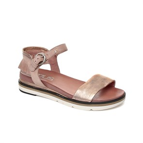 KIRMIZI Kadın Sandalet 809003-101 0001 MJUS LEATHER SANDALS ROSA+PERLA