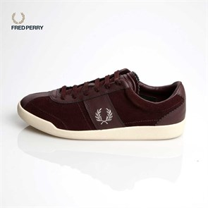 Erkek Sneaker B7463 FRED PERRY  153 STOCKPORT SUEDE - LEATHER BORDO-GÜMÜŞ