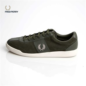 Erkek Sneaker B7463 FRED PERRY  153 STOCKPORT SUEDE - LEATHER HAKİ-GÜMÜŞ