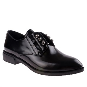 Ayakkabi  BU-108-7703-1 LEATHER JOHN MAY BLACK
