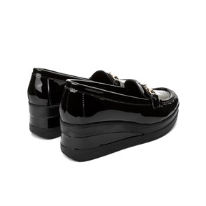 Ayakkabi  BU-2829-113 JOHN MAY PATENT LEATHER BLACK