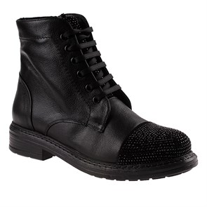 Ayakkabi  BU-62352-10 LEATHER JOHN MAY BLACK