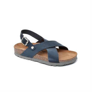 LACİVERT Kız Çocuk Sandalet GA-JM-17016 JOHN MAY PALERMO - LEATHER NAVY