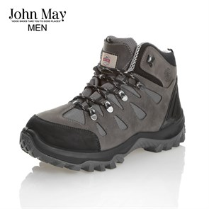 GRİ Erkek Outdoor Bot MK-JM1465CA CYBER JOHN MAY WATERTIGHT DERİ BOT CRAZY ASFALT