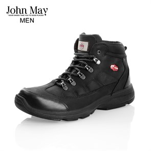 Erkek Outdoor Bot MK-JM4065CS JOHN MAY HAZAR WATERTIGHT DERİ BOT CRAZY SİYAH