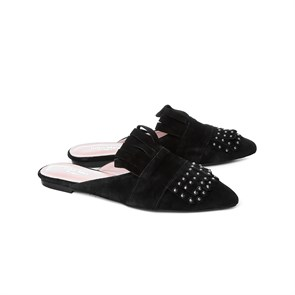 Ayakkabi  MS-18-65 JOHN MAY BLACK SUEDE