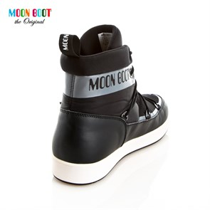 Ayakkabi  14300200-005 MOON BOOT NEIL GREY/BLACK/WHITE
