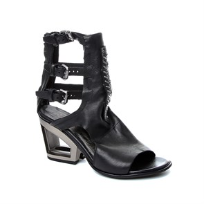 SİYAH Kadın Sandalet 957012-101 AS 98 SANDALI DONNA LADIES LEATHER  NERO