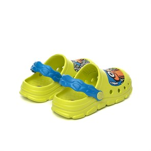 Ayakkabi  COQUI 9383 CITRUS/SEA BLUE STONEY CHILDREN'S CLOGS 21/22-29/30