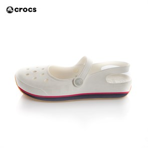 Crocs Kadın Terlik P023885 RETRO MARY JANE W.-165-WHITE-NAT.NAVY