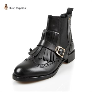 Ayakkabi Hush Pappies 031Z101552 HUSH PUPPIES LEIA FRINGE  BLACK // DERI