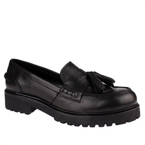 SİYAH Kadın Loafer IK-5039 LEATHER JOHN MAY BLACK