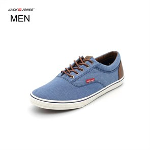 Jack & Jones LACİVERT Erkek Spor Ayakkabı 12104330 JJVISION MIXED CANVAS SNEAKER BLUE CHAMB CHAMBRAY BLUE