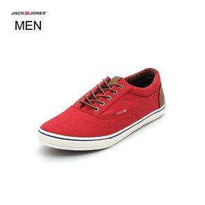 Jack & Jones  Erkek Spor Ayakkabı 12104332 JJVISION MIXED CANVAS SNEAKER BARBADOS C BARBADOS CHERRY