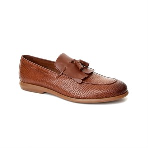 Erkek Loafer SA-8Y6702-737 JOHN MAY MINI KROKO TAN
