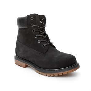 Timberland SİYAH Kadın Bot CA1K38 6IN PREMIUM BOOT - W BLACK WATERBUCK W-JET BLACK CHARRED COLLAR