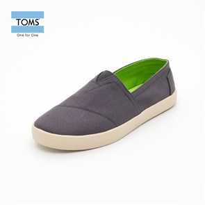 Toms Erkek Espadril 10004780  ASH CANVAS MN AVA SNEAK  -  GREY