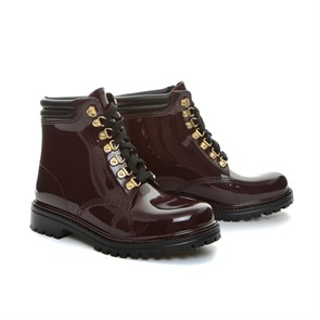 Chiara Bellini Kadın Yağmur Botu yt TM 552.7505L CHIARA BELLINI SHORD LACED UP BOOT SANGUINACCIO