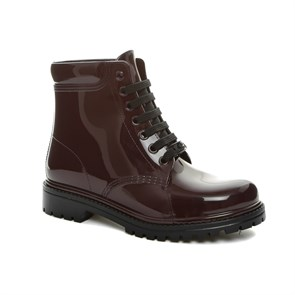 Chiara Bellini BORDO Kadın Yağmur Botu 552.7430 CHIARA BELLINI SHORD LACED UP BOOT SANGUINACCIO