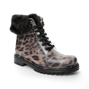Chiara Bellini BORDO Kadın Yağmur Botu 552.71454FPL CHIARA BELLINI SHORD LACED UP BOOT MARRONE