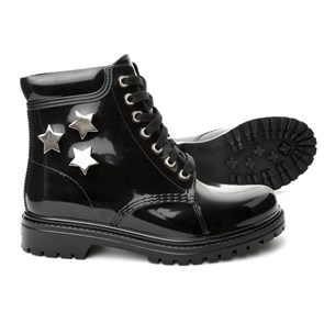 Chiara Bellini Kadın Yağmur Botu yt TM 552.7510L CHIARA BELLINI SHORD LACED UP BOOT BLACK