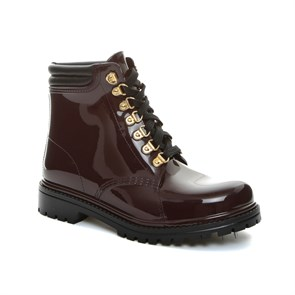 Chiara Bellini BORDO Kadın Yağmur Botu 552.7505L CHIARA BELLINI SHORD LACED UP BOOT SANGUINACCIO