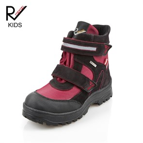 Kız Çocuk Bot yt TM 5009 D  RAP RAP  LEATHER BLACK RED