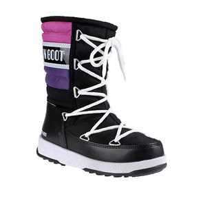 Kız Çocuk Kar Botu WaterProof Termo Taban 34050700-003 MOON BOOT W.E. QUILTED JR BLACK-VIOLET-ORCHID (27-36)