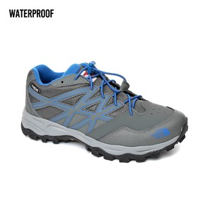 GRİ Erkek Çocuk Outdoor Ayakkabı T0CJ8P5ST JR HEDGEHOG HIKER WP THE NORTH FACE  GRAPHITE GREY-TURKISH SEA 35-38