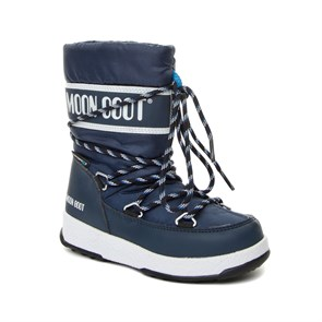 LACİVERT Erkek Çocuk Kar Botu 34051300-002 MOON BOOT WE SPORT JR WP NAVY BLUE- WHITE