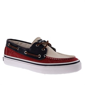 KIRMIZI Erkek Marin 1277417 SPERRY BAHAMA  - RED-WHITE-NAVY