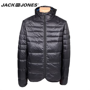 Erkek Mont 12095453 JACK & JONES CO BARON PUFFER JACKET CAMP BLACK NAVY