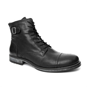Jack & Jones GRİ Erkek Bot 12110599 JJ JFWSITI LEATHER BOOT ANTHRACITE BOOTS ANTHRACITE