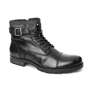 Jack & Jones SİYAH Erkek Bot 12110601 JJ JFWALBANY LEATHER BOOT BLACK BOOTS BLACK