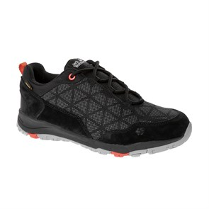 Jack Wolfskin  Kadın Outdoor Ayakkabı ACTIVATE XT TEXAPORE LOW W J WOLFSKIN FOOTWEAR BLACK - ORANGE CORAL
