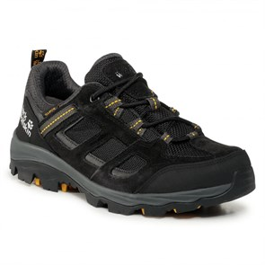 Jack Wolfskin  Erkek Outdoor Ayakkabı 4042441-6055 JACK WOLFSKIN VOJO 3 TEXAPORE LOW M black - burly yellow XT