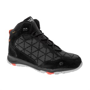 Jack Wolfskin  Erkek Outdoor Bot ACTIVATE XT TEXAPORE MID W J WOLFSKIN FOOTWEAR BLACK - ORANGE CORAL