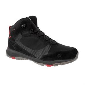 Jack Wolfskin  Erkek Outdoor Bot ACTIVATE XT TEXAPORE MID M J WOLFSKIN FOOTWEAR BLACK - RED