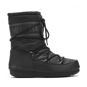 Kadın Bot 24009200 001 MOON BOOT MID NYLON WP BLACK