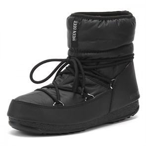 Kadın Bot 24009300 001 MOON BOOT LOW NYLON WP 2 BLACK